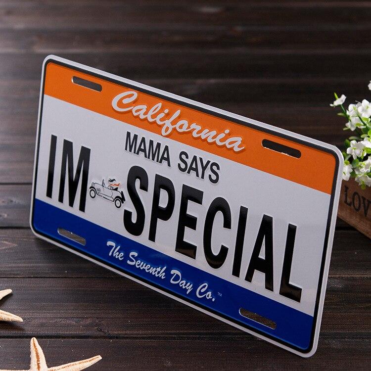 1000pcs Metal Aluminium Signage English Signage Motorcycle Electric License Plate Custom Logo Wholesale Bump Stamping