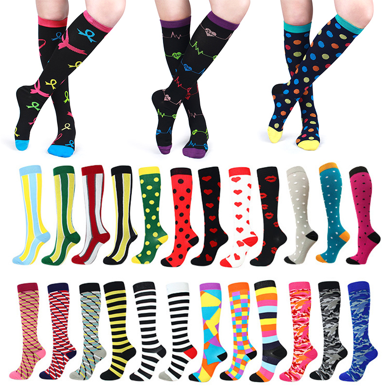 New Arrival 1Pair Sports Socks Women Support Calf Running Medical Mens Compression Stockings