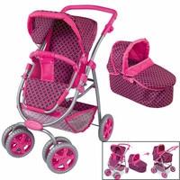 Big Wheel Baby Stroller Toy Girl Children Pretend Play Toys Furniture Stroller Baby Doll Stroller Adjustable Thickening Putter