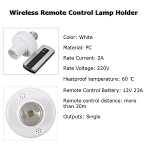 Image 3 - E27 Socket Cap RC Wireless Remote Control Light Lamp Bulb Holder Switch Home