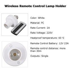 Image 3 - E27 소켓 캡 rc 무선 원격 제어 라이트 램프 전구 홀더 스위치 홈