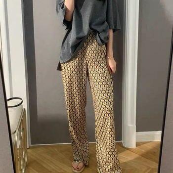 2020 Bohemia Wide Leg Pants Women Floral Geometric Print Boho Pant  Bandage Trousers Summer Streetwear Holiday Beach Wear