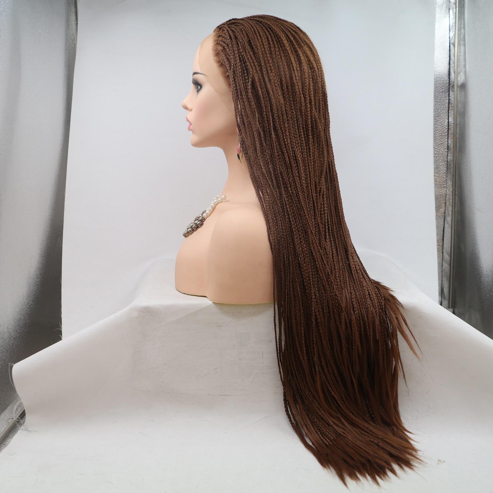 frontal de renda sintética para mulheres negras cabelo preto perucas de renda