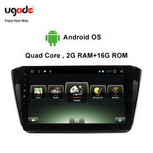 Ugode Car Multimedia Player GPS Navigation 10.1 Inches Screen Monitor Bluetooth Android OS For 2015 Skoda Superb