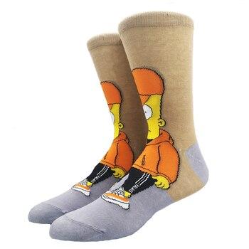 Cartoon Rabbit Sock Casual Hip Hop Creative Soft Comfortable Funny Novelty Skateboard socks Men Calcetines Hombre Divertido 43