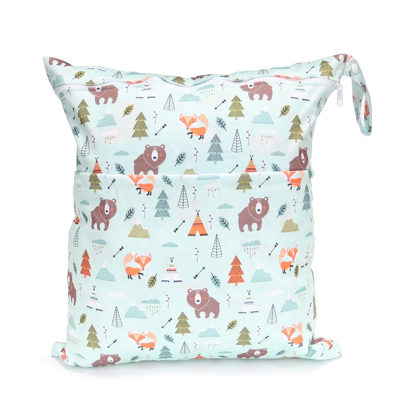 [CHOOEC] Big Size:40X45cm 2019 New XL Wet Bag Washable Reusable Cloth Diaper Nappies Bags Waterproof Swim Sport Travel Carry Bag