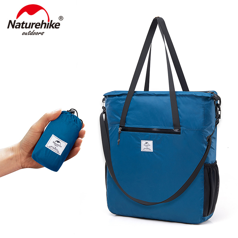 Naturehike 14L Foldable Lightweight Larger Capacity Tote Bag Waterproof 30D Nylon Sport Bag Simple And Versatile Crossbody  Bags
