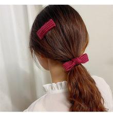 Ярких цветов Цветной шерстяные заколка для волос девочек вязаная