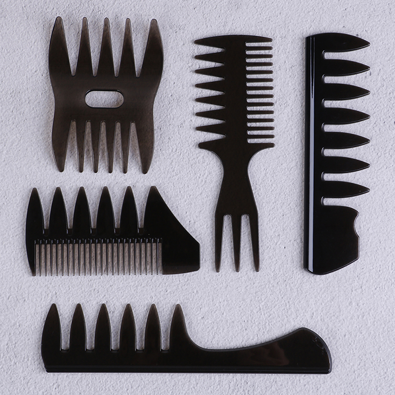 Professional Hair Cutting Dyeing Comb Black Wide Tooth Hairbrush Hair Brush Comb Home Use Salon Hairdressing Comb