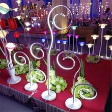 купить Wedding Party Stage Road Decoratieve Bloem Achtergrond Stand Smeedijzeren Road Lood Aangehaald Bloem Rij Venster T Station LED онлайн