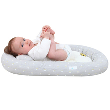 Baby Foldable Bed Baby Breathable Lounger Sleeping Bed Cotton Portable Crib for Bedroom Baby Bionic Bed