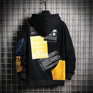 Image 2 - SingleRoad Mens Hoodies Men 2020 Winter Patchwork Hip Hop Japanese Streetwear Harajuku Black Sweatshirt Hoodie Men Sweatshirts