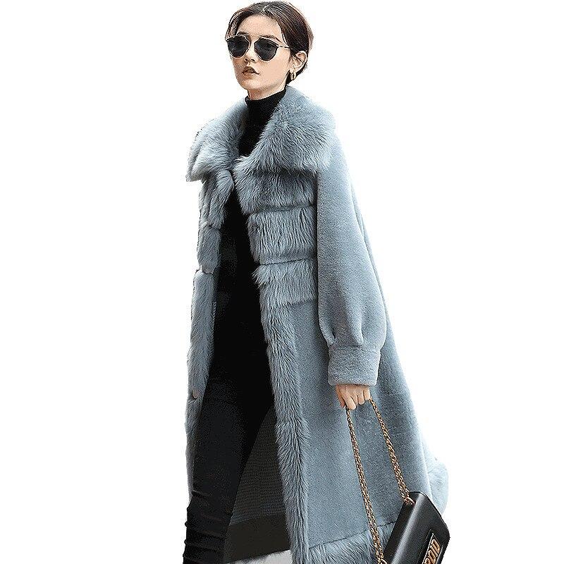 Natural Real Fur Coat Women Genuine Leather Jacket Sheep Shearing Winter Coat Women Clothes 2020 Korean 100% Wool Jacket DS99976