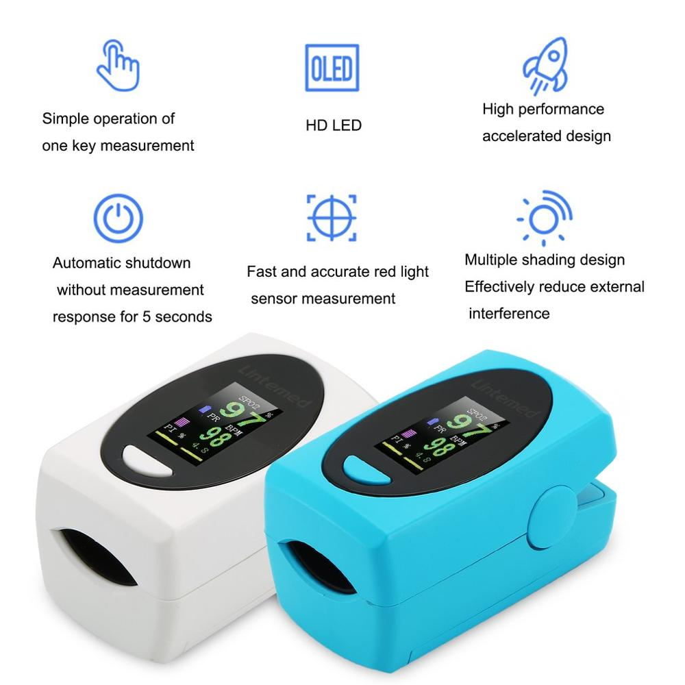 Digital Finger-Clip Pulse Oximeter Blood Oxygen Portable Heart Rate Meter Health Electronic Model Health Care Dropshipping