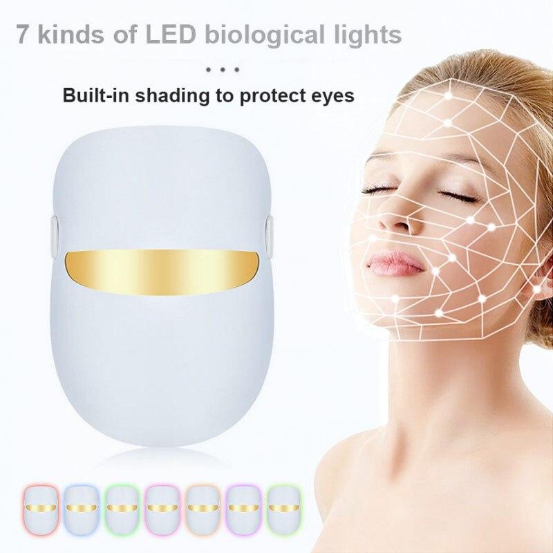 New Product Led Spectrum Beauty Mask Home Colorful Photon Skin Rejuvenation Mask Apparatus Whitening Import Mask USB Multifuncti