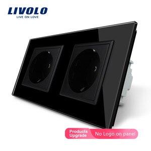 Image 3 - Livolo EU มาตรฐานไฟฟ้าคู่ซ็อกเก็ตกำลังไฟผนัง,4 สีแผงคริสตัลแก้วคริสตัล,16A 2 PIN Outlet, ปลั๊ก SOCKET