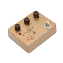лучшая цена Classic Handmade Gold Klon Overdrive Pedal With Ture Bypass Over Drive Effects Pedals For Guitar
