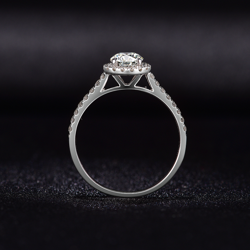 Image 3 - 婚約指輪女性 18 18k ホワイトゴールド無色 vvs ハーツ矢印チャールズ colvard 永遠 1 モアッサナイトリング指輪   -