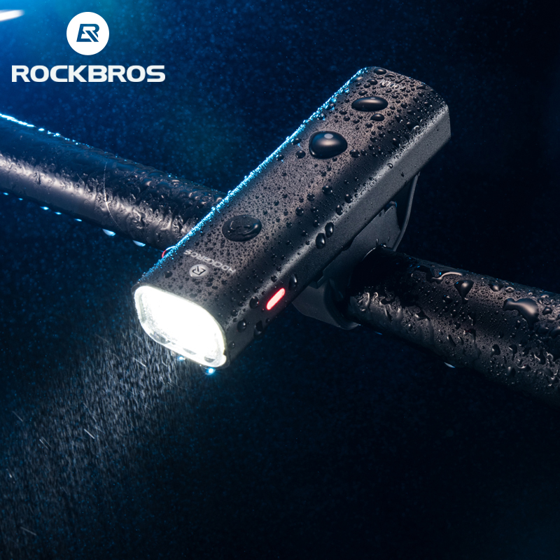 ROCKBROS Велосипедное освещение непромокаемый USB Перезаряжаемый светодиод 2000 мАч MTB передняя фара алюминиевый Сверхлегкий фонарик велосипедны...