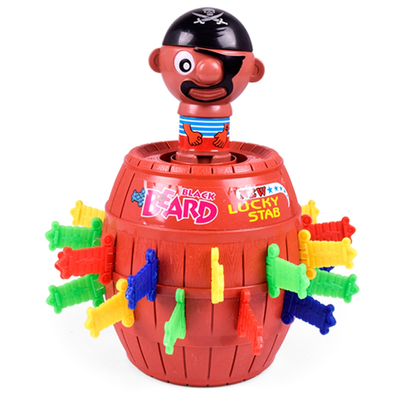 1pcs Tricky Pirate Bucket New Exotic Toy Friends Party Birthday Party Game Props Lucky Stab Pop Up Toy