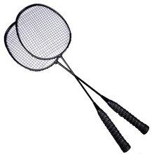 The 2PCS Full Carbon Training 5U Badminton Racket Sport Equipment  Badminton Racket Professional Padel Racket Racquet With Bag