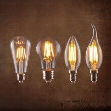 E27 E14 220V Светодиодный светильник накаливания Ретро лампа Эдисона светодиодный светильник Ретро лампа замена лампы накаливания винтажный Декор ампул