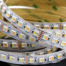 Tira de luz LED RGB CCT SMD 5050 DC12V 24V RGBCCT LED Flexible 60leds 5in1RGBCCT Chip RGBW + WW Flexible cinta Led luz decorativa
