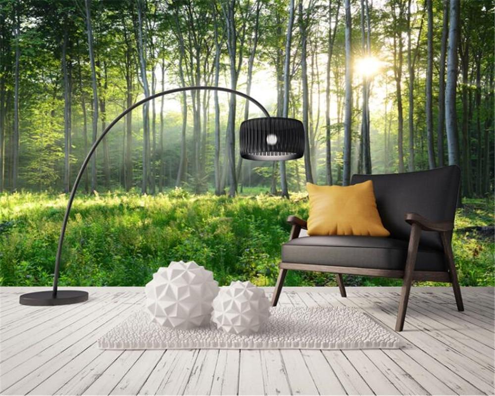 Beibehang Sob Encomenda da foto papel de parede Natureza verde floresta paisagem mural sala tv papel de parede 3d papel de parede