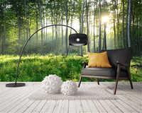Zdjęcie na zamówienie beibehang tapety natura zielony las tapety mural pejzaż tv do salonu 3d tapety