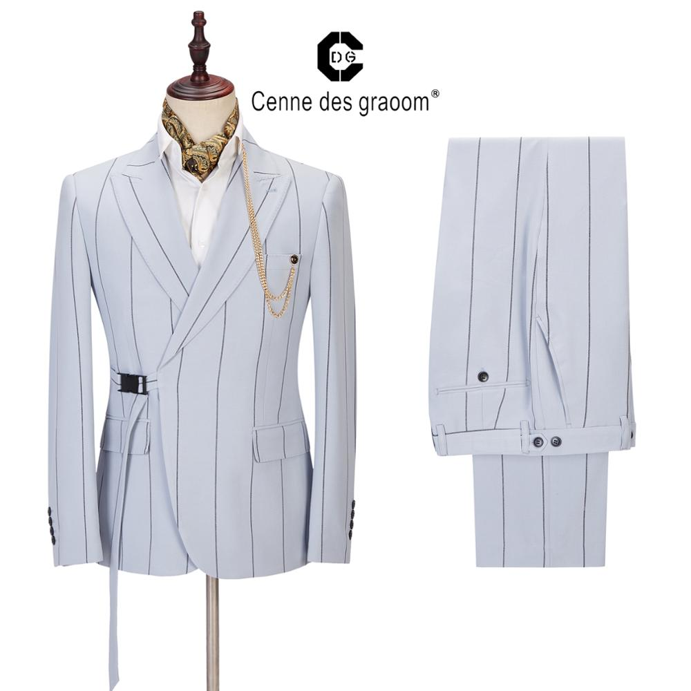 2020 Men Suits New Arrival Mens Fashion Tailor-Made Costume Jackets Blazers Vest Pants For Wedding Party Singer Groom Christmas