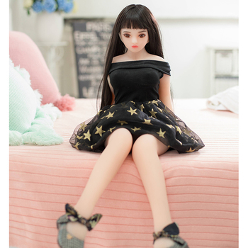 88cm Medical TPE Silicone Metal Skeleton Mini Sex Doll Lifelike Japan Sexy 18 Young Girl Loli Love Doll Old Man Sex