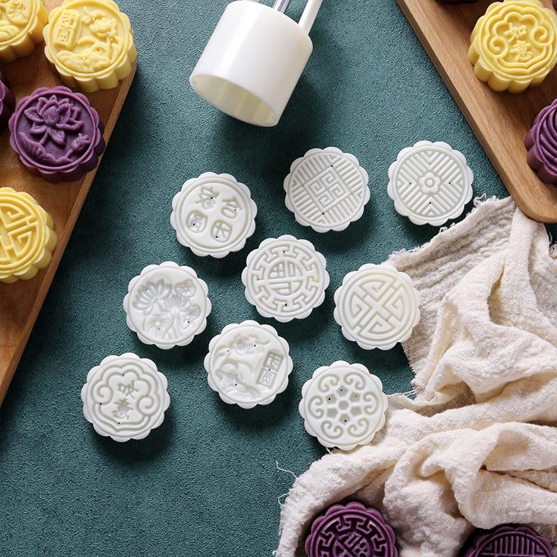 Полуосенняя модель изготовления лунных тортов, инструмент для печати, снежный Мун, кондитерский десерт, ручное давление, антипригарные кухонные инструменты для выпечки Формы для тортов    АлиЭкспресс - форма для выпечки