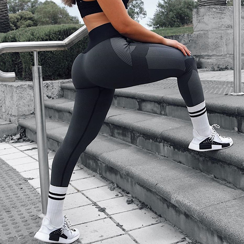 SFIT Women Active Legging High Waist Gym Wear Folding Fitness Excerise Pants Seamless Leggings Workout Women Wear 2019