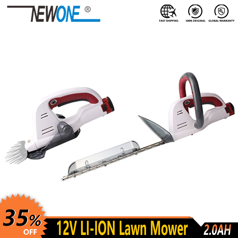 NEWONE 12V Cordless Electric Portable Home Garden Grass Lawn Mower Grass Shear scissor weed edger hedge trimmer pruning shear