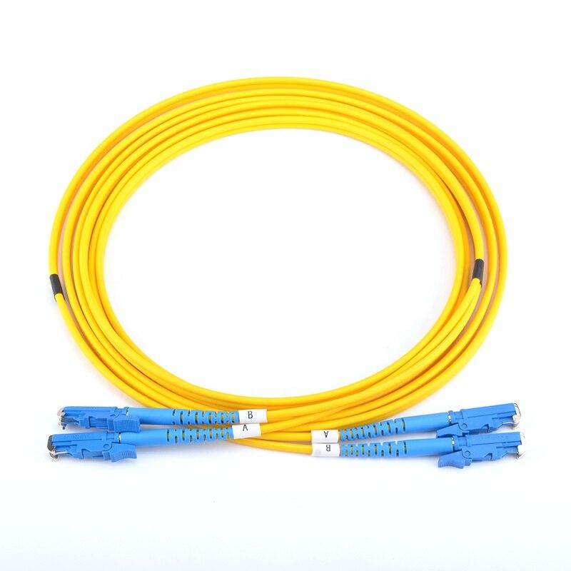 US  MADE  D4  to  LC  Singlemode     Duplex  9//125 Fiber Optic Jumper Cable  15M
