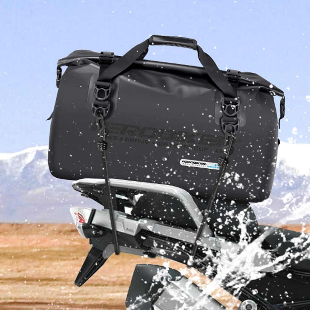 Herobiker Motor Tas 45L Multifunctionele Waterdichte Pakket Zak Helm Rugzak Motorfiets Reistas Moto Bagage Tassen