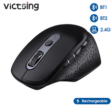VicTsing PC253 Wireless Bluetooth Mouse Rechargeable Ergonomic Computer Mouse 8 Buttons 3200 DPI Thumb Scroll Wheel For Notebook