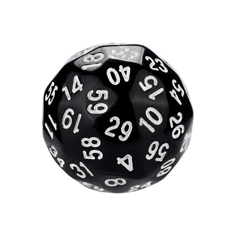 Polyhedron D60 poly dice game dice acrylic dnd dice sets dados poliedricos brand new dados rpg dice tray dice set d60 30A20 (5)