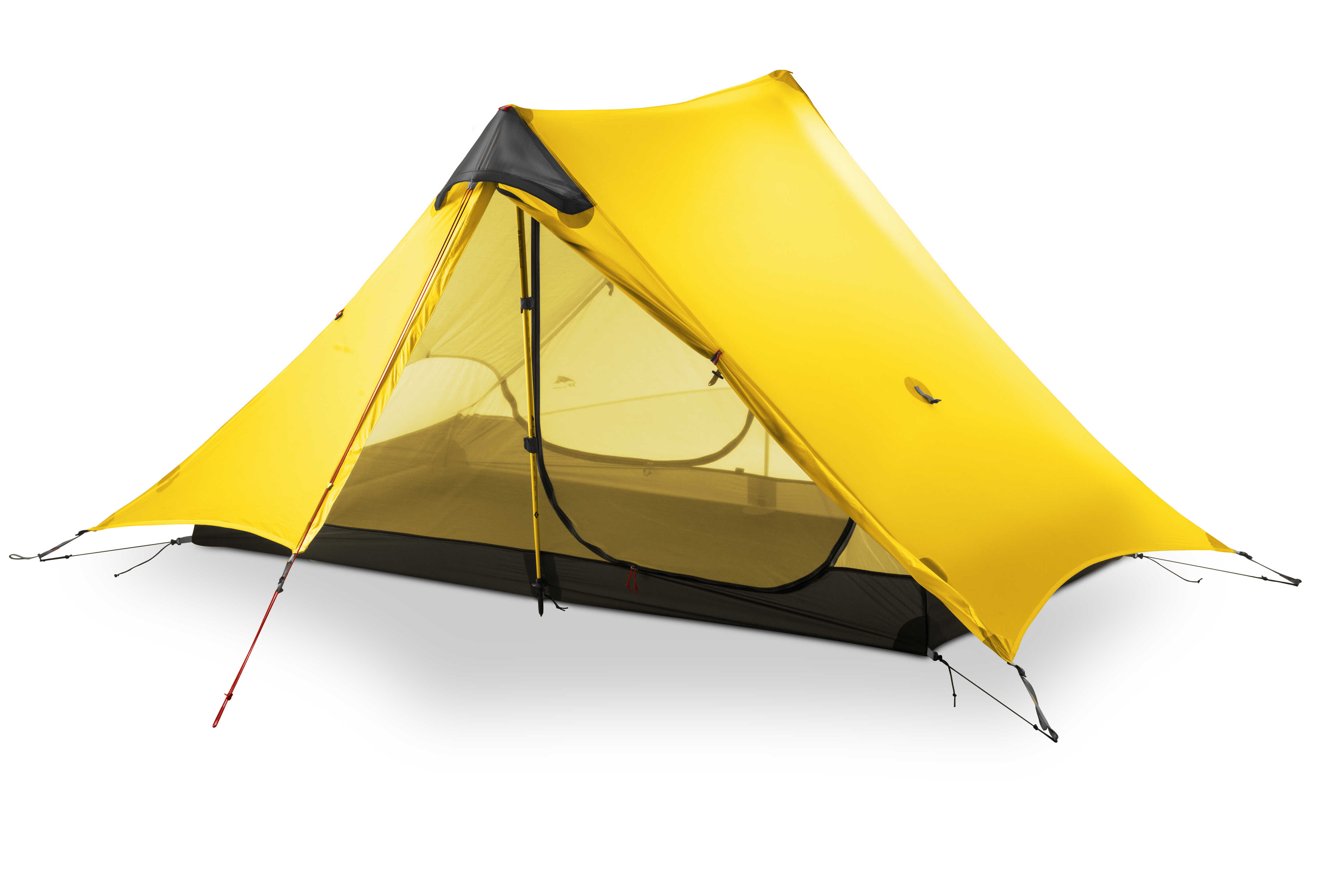 3F ULเกียร์ 2019 Lanshan 2 Rodlessเต็นท์ 2 คนProfessional 15D Silnylonเต็นท์Oudoor Ultralight Campingเต็นท์ 3 4 เต็นท์