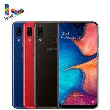 Odblokowany telefon komórkowy Samsung Galaxy A20 A205U A205F/DS 1SIM i 2SIM 6.4