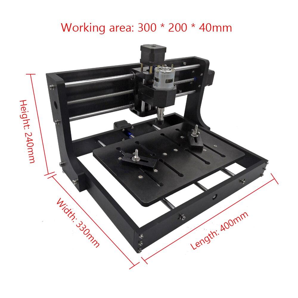 Image 4 - Cnc3020 máquina de gravação a laser 3 eixos fresagem de madeira corte roteador diy gravador a laser suporte offline controle 0.5 w 15 w potênciaRoteadores de madeira   -