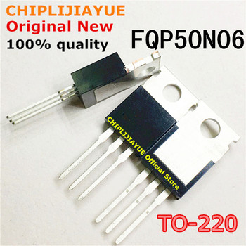 10PCS FQP50N06 TO220 50N06 TO-220 new and original IC Chipset - discount item  10% OFF Active Components