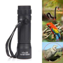 10x25 HD 10X Monocular Mini Portable Telescope Waterproof Binoculars Optical Hunting Travel Camping Fishing Hiking