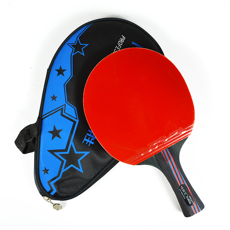 Huieson Hybrid Carbon Fiber Table Tennis Racket Blade Rubber Ping Pong Rackets Double Face Pimples-in Blade For Senior Players
