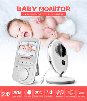 Wireless LCD VB605 2.4G Audio Video Baby Monitor Safe Care Nanny Music Intercom IR 24h Portable Baby Camera Baby Babysitter