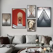 Постеры и принты в нордическом минималистическом римском стиле, художественные картины на холсте для строительства стен, для гостиной, дом...