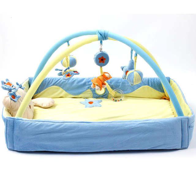 Baby Activity Gym Playmat Game Blanket Princess Baby Play Mat Crawling Game Pad Mobile Cot Toys Bundle Bracket Bedding