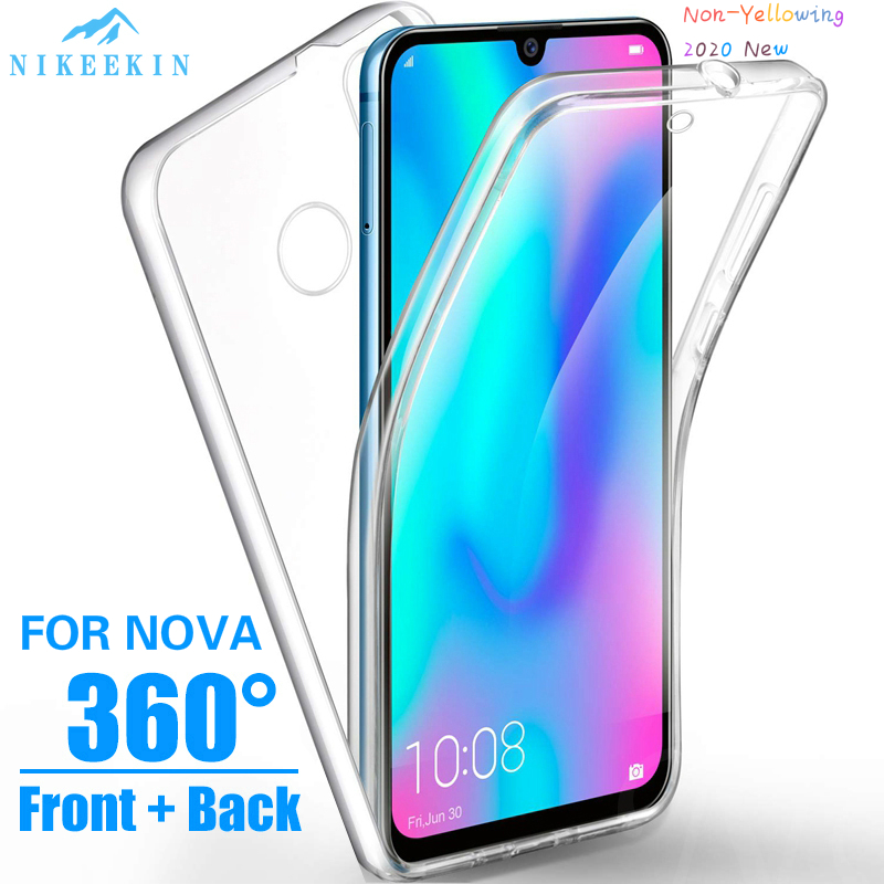360 Full Body Case for Huawei P40 Lite 5G Y9S Y5P Y6P Y6S P40 Pro Clear Silicone Cover on Honor 9X 20 Pro 8A 20S 10 Lite Nova 5T(China)