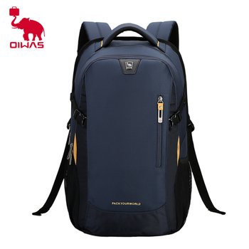 Mochila OIWAS de moda para hombre, mochila para ordenador portátil de poliéster para hombre, mochila para estudiantes de secundaria, bolsa de estudiantes universitarios