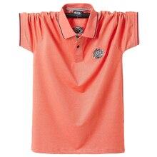 2020 letnie męskie koszulki Polo czystej bawełny koszule z krótkim rękawem haftowane godło prosta bluzka koszula ponadgabarytowych 5XL solidna koszulka Polo